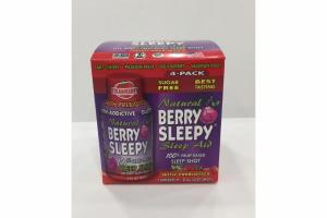 STRAWBERRY NATURAL 100% FRUIT-BASED SLEEP SHOT AID WITH PREBIOTICS DIETARY SUPPLEMENT SLEEP SHOTS