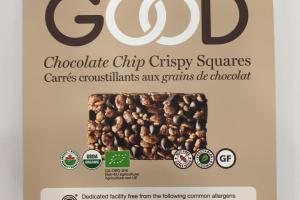 Chocolate Chip Crispy Squares