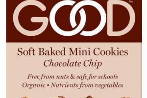 ORGANIC CHOCOLATE CHIP SOFT BAKED MINI COOKIES