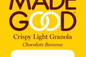 CHOCOLATE BANANA CRISPY LIGHT GRANOLA
