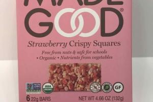 STRAWBERRY CRISPY SQUARES BARS