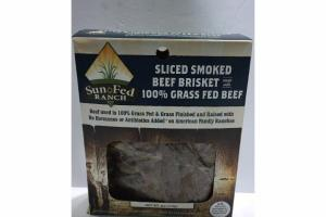 SLICED SMOKED BEEF BRISKET MADE WITH 100% GRASS FED BEEF