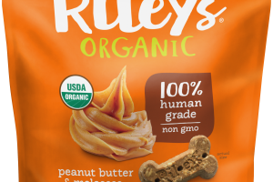 Organic Peanut Butter & Molasses Recipe Dog Treats