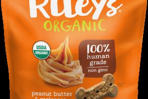 Organic Peanut Butter & Molasses Recipe Dog Treats