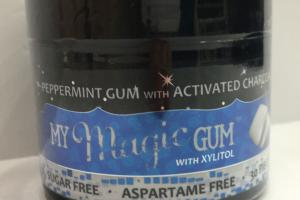 Xylitol Peppermint Gum With Activated Charcoal
