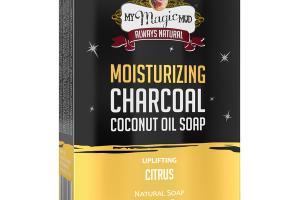 MOISTURIZING CHARCOAL COCONUT OIL SOAP, UPLIFTING CITRUS
