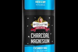 CHARCOAL MAGNESIUM NATURAL DEODORANT, CUCUMBER SAGE