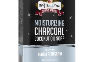 MOISTURIZING CHARCOAL COCONUT OIL SOAP, RELAXING NEROLI PETITGRAIN