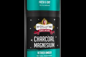 CHARCOAL MAGNESIUM NATURAL DEODORANT, VETIVER AMBER
