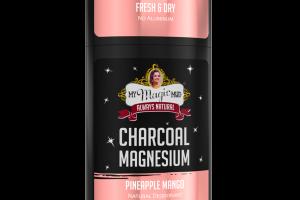 CHARCOAL MAGNESIUM PINEAPPLE MANGO NATURAL DEODORANT