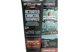 ACTIVATED CHARCOAL FLUORIDE-FREE TOOTHPASTE CINNAMON CLOVE