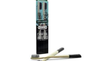 ACTIVATED CHARCOAL INFUSED SOFT BRISTLES BAMBOO TOOTHBRUSH