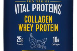 COLLAGEN WHEY PROTEIN DIETARY SUPPLEMENT, BANANA CINNAMON & VANILLA