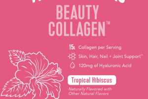 SKIN, HAIR, NAIL + JOINT SUPPORT DIETARY SUPPLEMENT, TROPICAL HIBISCUS