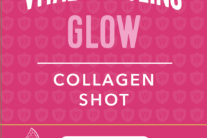 COLLAGEN SHOT GLOW DIETARY SUPPLEMENT, STRAWBERRY & LEMON