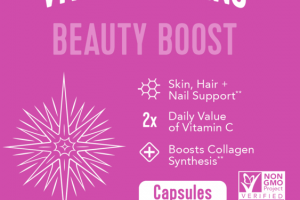 BEAUTY BOOST SKIN, HAIR + NAIL SUPPORT DIETARY SUPPLEMENT CAPSULES