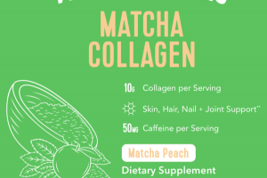 MATCHA COLLAGEN DIETARY SUPPLEMENT, MATCHA PEACH