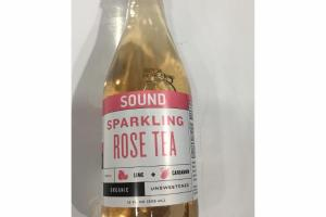 ORGANIC UNSWEETENED SPARKLING ROSE TEA WITH LIME + CARDAMOM