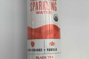 BLOOD ORANGE + VANILLA ORGANIC UNSWEETENED INFUSED SPARKLING WATER BLACK TEA
