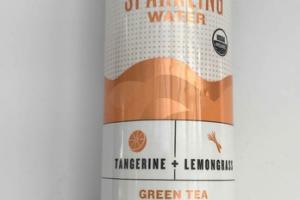 TANGERINE + LEMONGRASS ORGANIC UNSWEETENED TEA-INFUSED SPARKLING WATER GREEN TEA