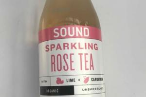 ORGANIC UNSWEETENED SPARKLING ROSE TEA WITH LIME + CARDAMON