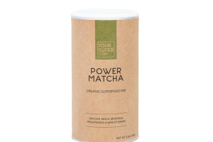 POWER MATCHA, MACA, MORINGA, WHEATGRASS & BARLEY GRASS ORGANIC SUPERFOOD MIX