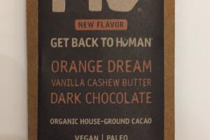 Orange Dream Vanilla Cashew Butter Dark Chocolate