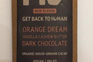 Orange Dream Vanilla Cashew Butter Dark Chocolate
