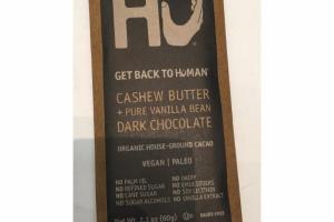 CASHEW BUTTER + PURE VANILLA BEAN DARK CHOCOLATE