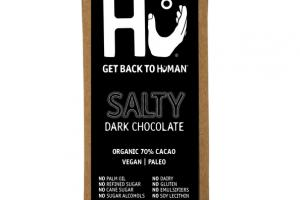 ORGANIC 70% CACAO SALTY DARK CHOCOLATE BAR