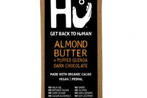 ALMOND BUTTER + PUFFED QUINOA DARK CHOCOLATE