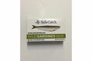 SKINLESS BONELESS WILD SARDINES IN EXTRA VIRGIN OLIVE OIL