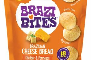 CHEDDAR & PARMESAN BRAZILIAN CHEESE BREAD