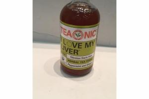 PEPPERMINT AND GINGER HERBAL TEA TONIC
