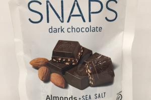 Organic Snaps Dark Chocolate Almonds + Sea Salt