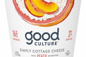 Simply Cottage Cheese With Peach On Bottom