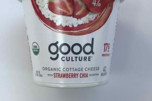 STRAWBERRY CHIA ORGANIC COTTAGE CHEESE