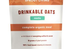 MOCHA DRINKABLE OATS COMPLETE ORGANIC MEAL