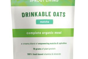 DRINKABLE OATS MATCHA PLANT-BASED INSTANT POWDER MIX