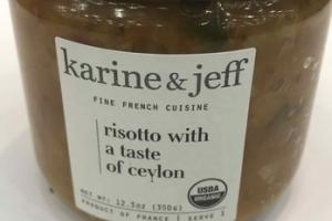 FINE FRENCH CUISINE RISOTTO WITH A TASTE OF CEVLON
