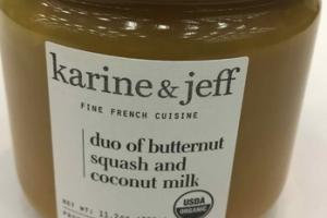 DUO OF BUTTERNUT SQUASH AND COCONUT MILK FINE FRENCH CUISINE