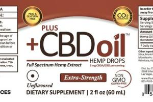 EXTRA-STRENGTH FULL SPECTRUM HEMP EXTRACT CBDA/CBD 3 MG DIETARY SUPPLEMENT DROPS, UNFLAVORED