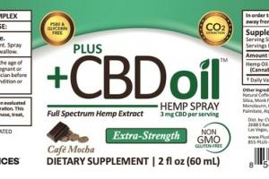EXTRA-STRENGTH FULL SPECTRUM HEMP EXTRACT CBD 3 MG DIETARY SUPPLEMENT SPRAY, CAFE MOCHA