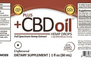 FULL SPECTRUM HEMP EXTRACT CBDA/CBD 1 MG DIETARY SUPPLEMENT DROPS, UNFLAVORED