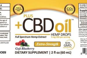 GOJI BLUEBERRY FULL SPECTRUM HEMP EXTRACT DROPS DIETARY SUPPLEMENT