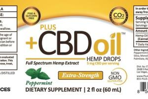 PEPPERMINT EXTRA-STRENGTH FULL SPECTRUM HEMP EXTRACT DIETARY SUPPLEMENT DROPS