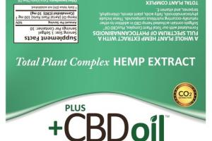 FULL SPECTRUM HEMP EXTRACT DIETARY SUPPLEMENT SOFTGELS