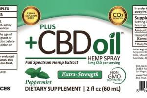 PEPPERMINT HEMP SPRAY DIETARY SUPPLEMENT