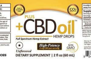 HIGH-POTENCY FULL SPECTRUM HEMP EXTRACT CBD 9 MG DIETARY SUPPLEMENT DROPS, UNFLAVORED
