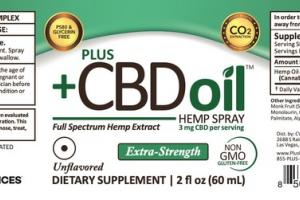 EXTRA-STRENGTH FULL SPECTRUM HEMP EXTRACT CBD 3 MG DIETARY SUPPLEMENT SPRAY, UNFLAVORED